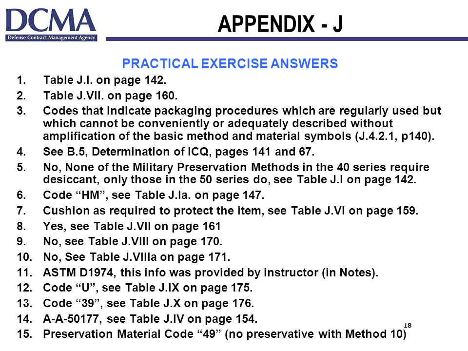PRACTICAL EXERCISE ANSWERS
