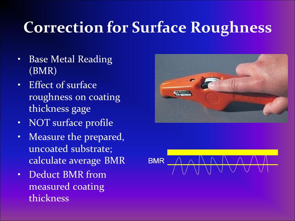 Correction for Surface Roughness