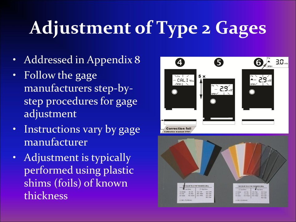 Adjustment of Type 2 Gages