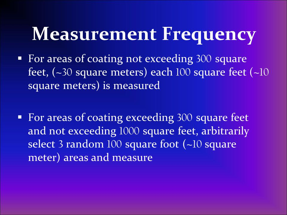 Measurement Frequency