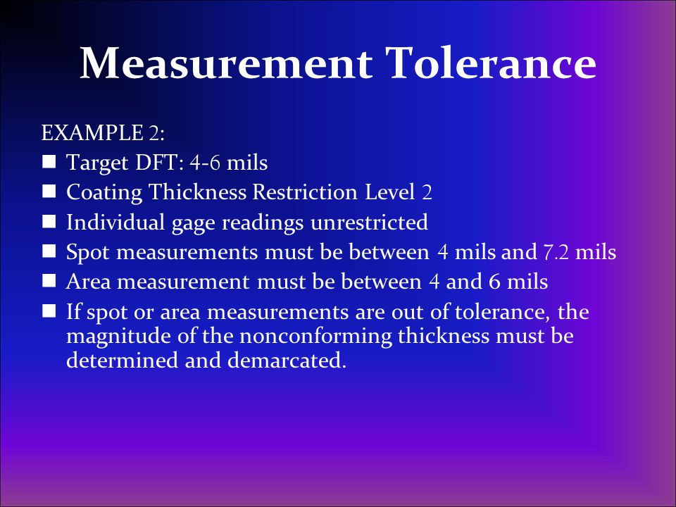 Measurement Tolerance