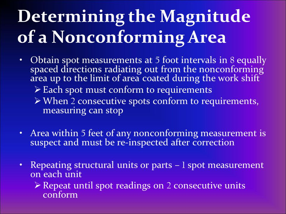 Determining the Magnitude of a Nonconforming Area