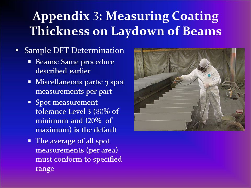 Appendix 3: Measuring Coating Thickness on Laydown of Beams
