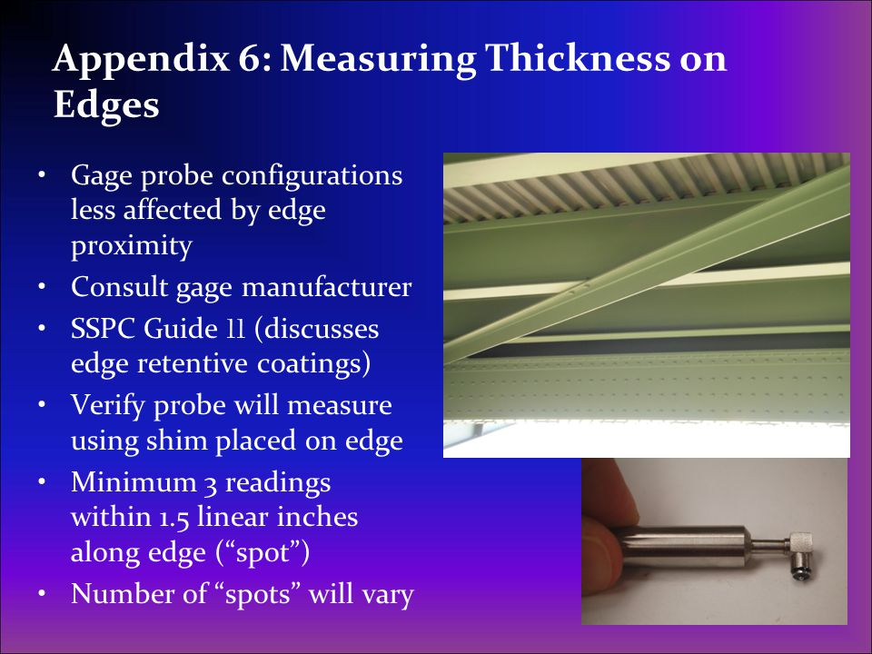 Appendix 6: Measuring Thickness on Edges