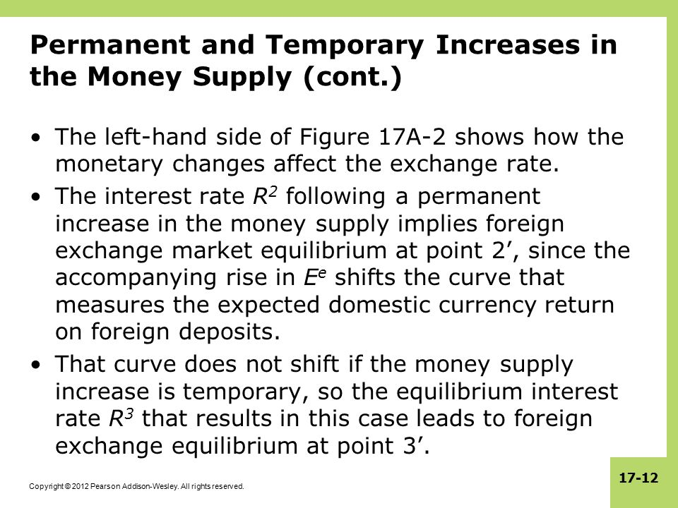 Permanent and Temporary Increases in the Money Supply (cont.)