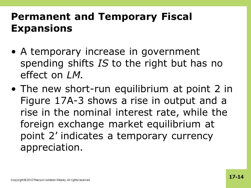 Permanent and Temporary Fiscal Expansions