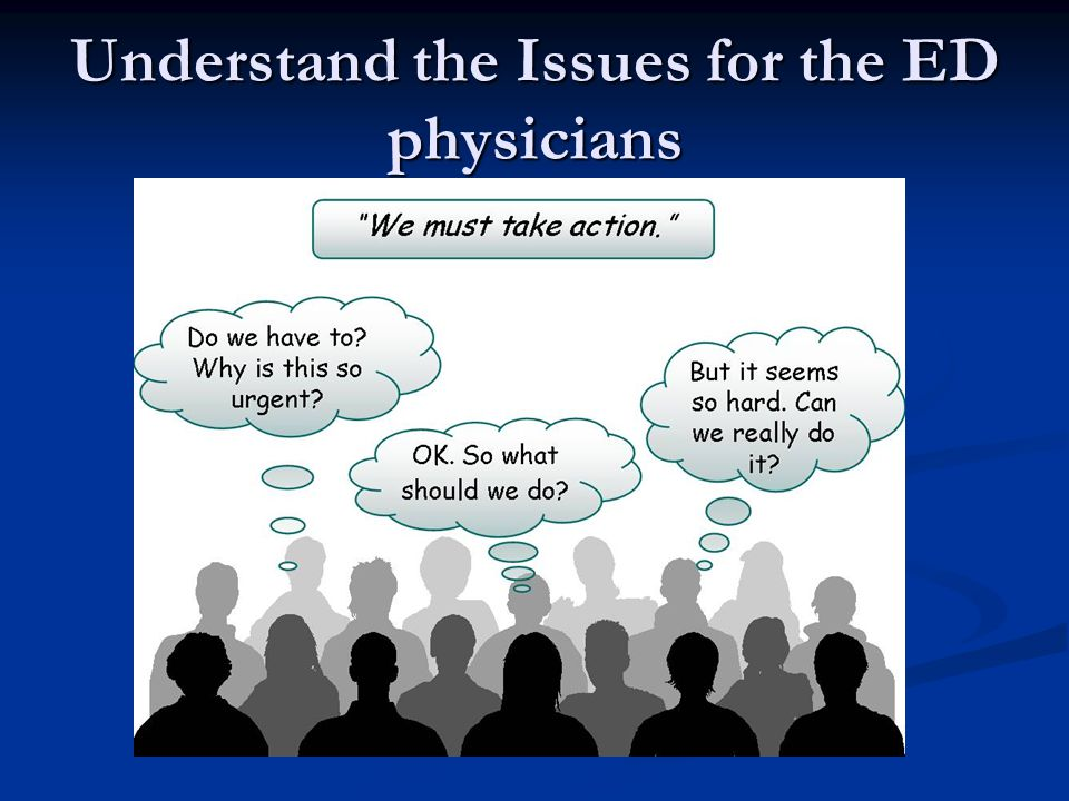 Understand the Issues for the ED physicians