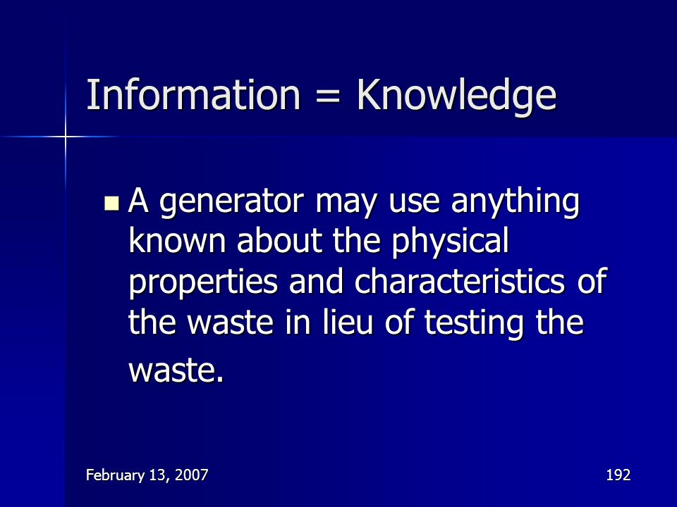Information = Knowledge