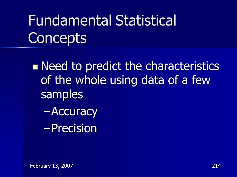 Fundamental Statistical Concepts