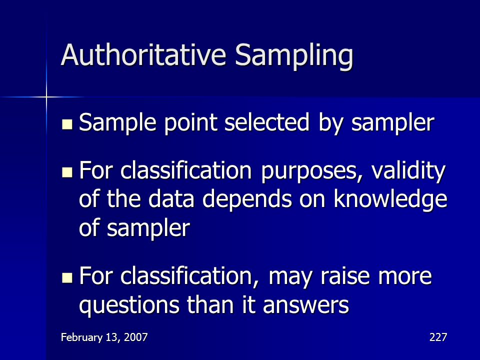 Authoritative Sampling