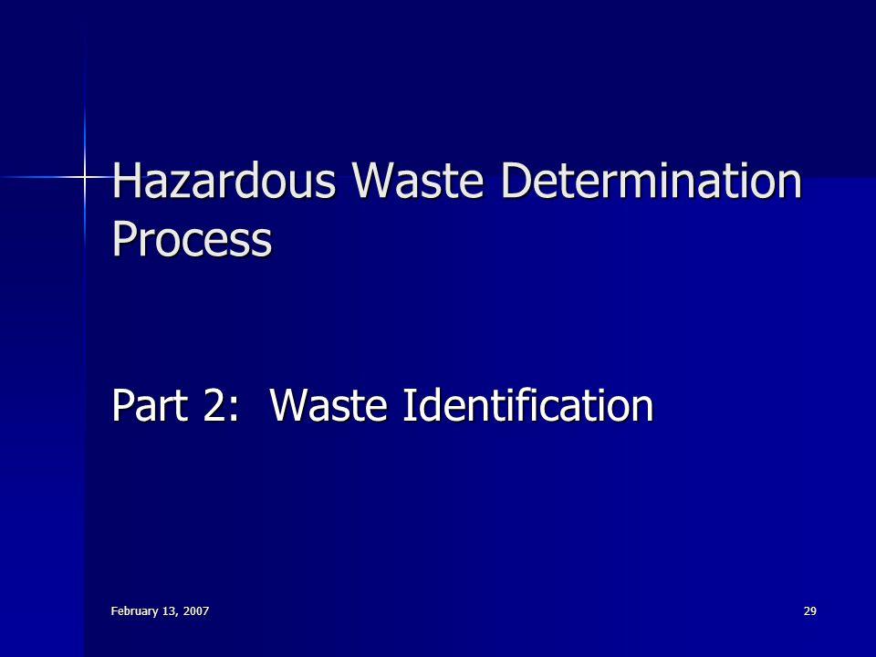 Hazardous Waste Determination Process