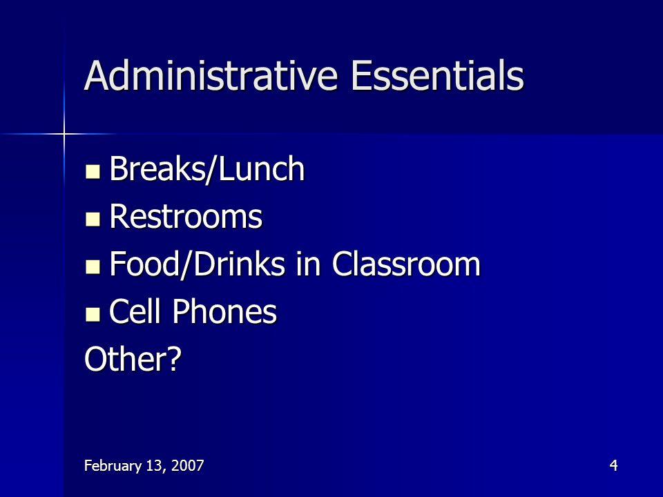 Administrative Essentials