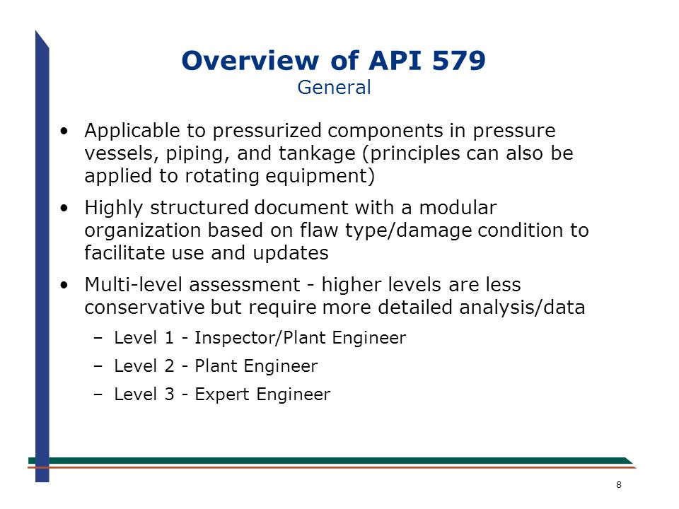 Overview of API 579 General