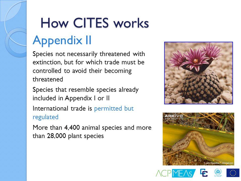 How CITES works Appendix II