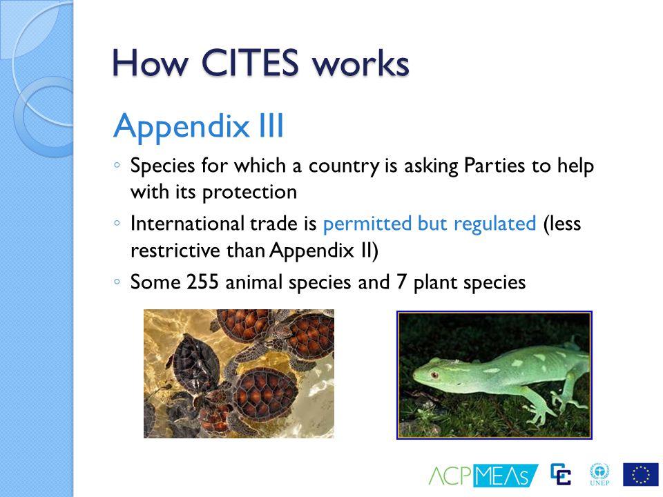 How CITES works Appendix III