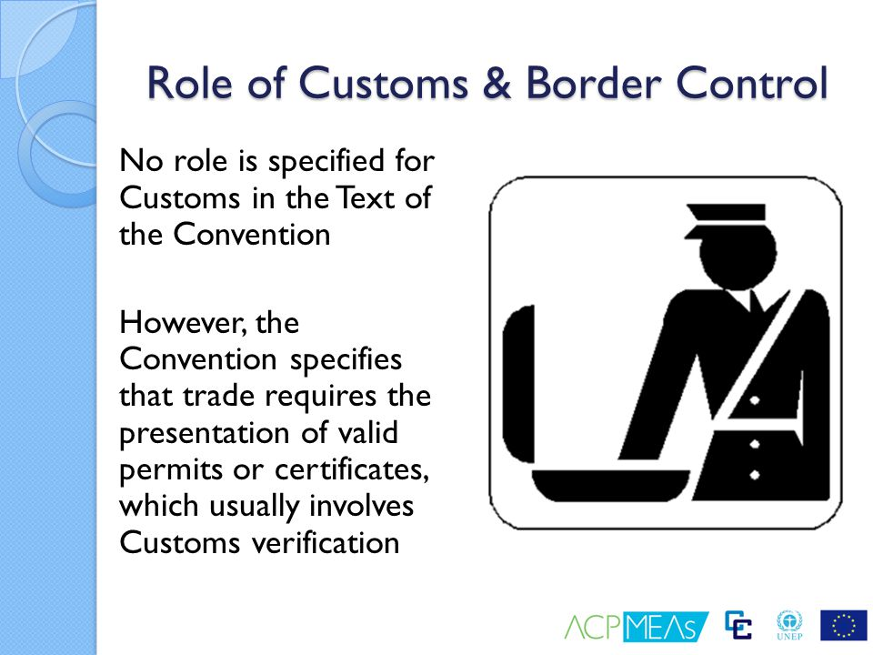 Role of Customs & Border Control