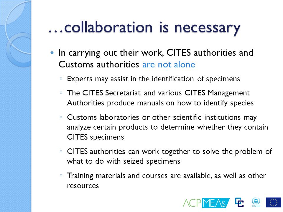 …collaboration is necessary
