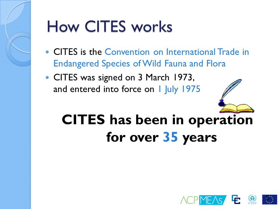 CITES has been in operation for over 35 years