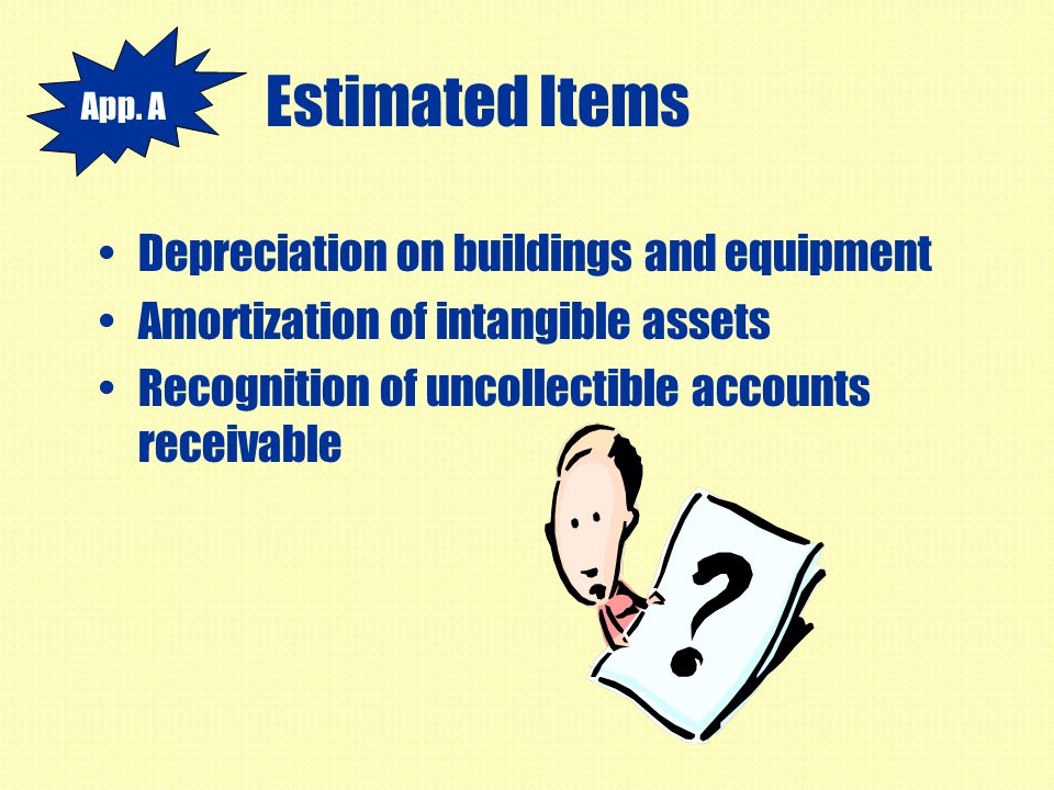 Estimated Items Depreciation on buildings and equipment