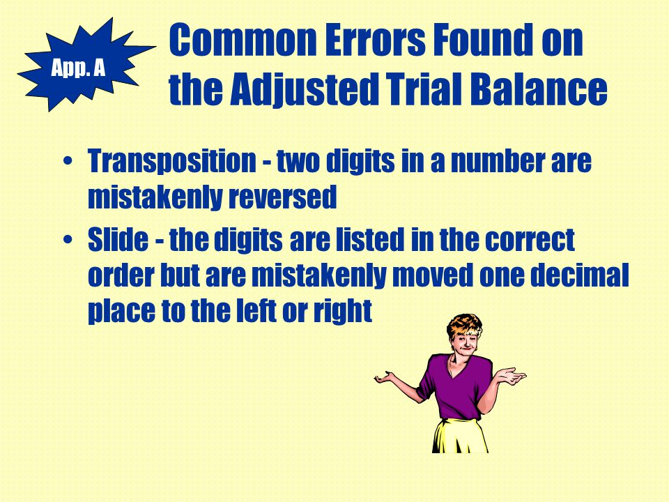 Common Errors Found on the Adjusted Trial Balance
