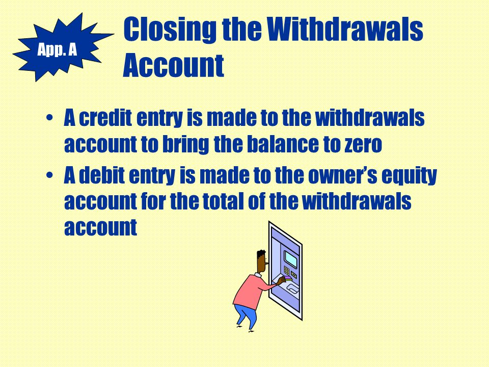 Closing the Withdrawals Account