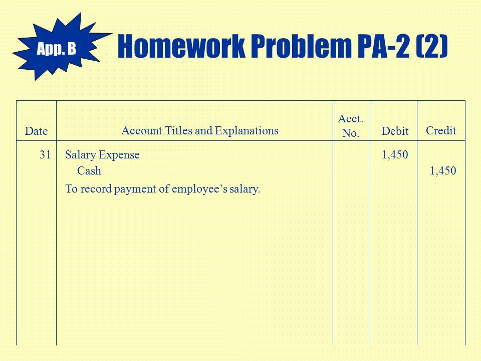Homework Problem PA-2 (2)