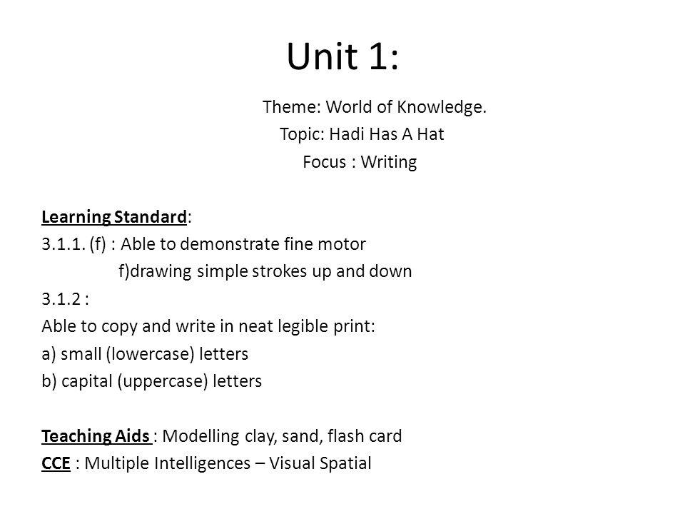 Theme: World of Knowledge.