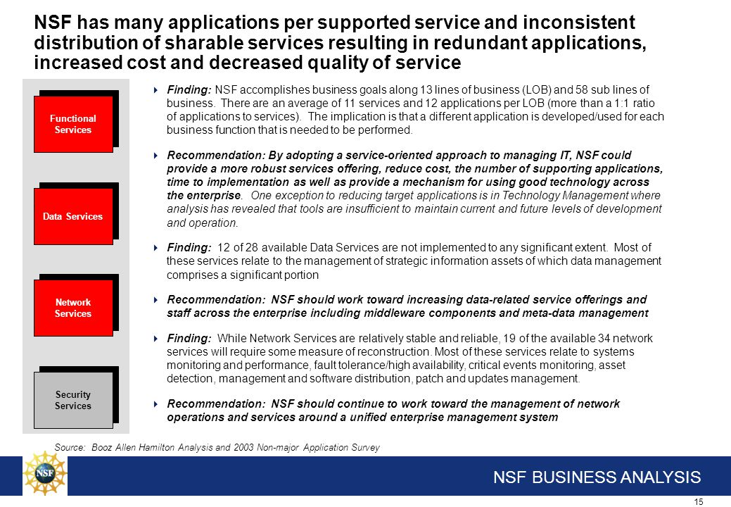 NSF should continue to secure the its computing environment by increasing the use of security services and requiring them across the Foundation