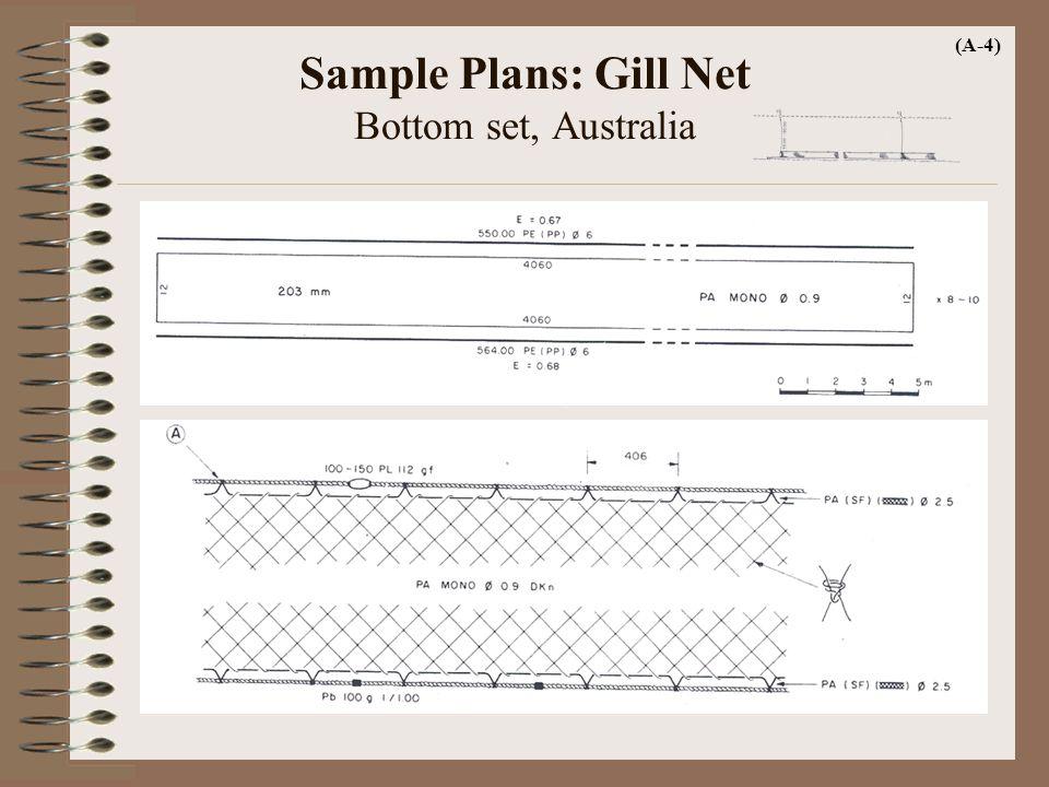 Sample Plans: Gill Net Bottom set, Australia