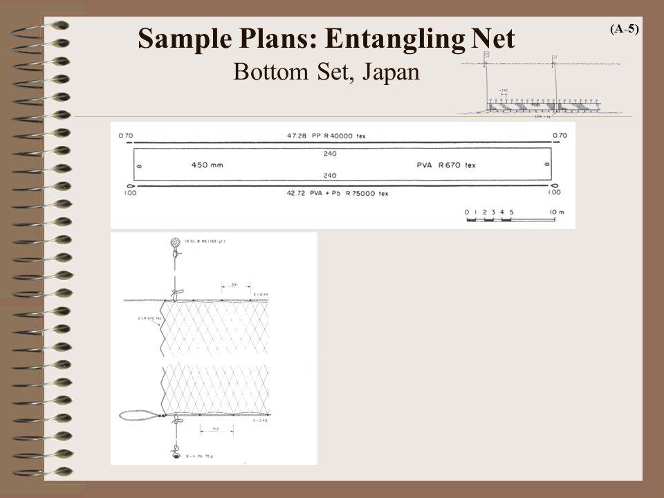 Sample Plans: Entangling Net Bottom Set, Japan