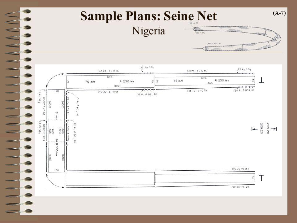 Sample Plans: Seine Net Nigeria