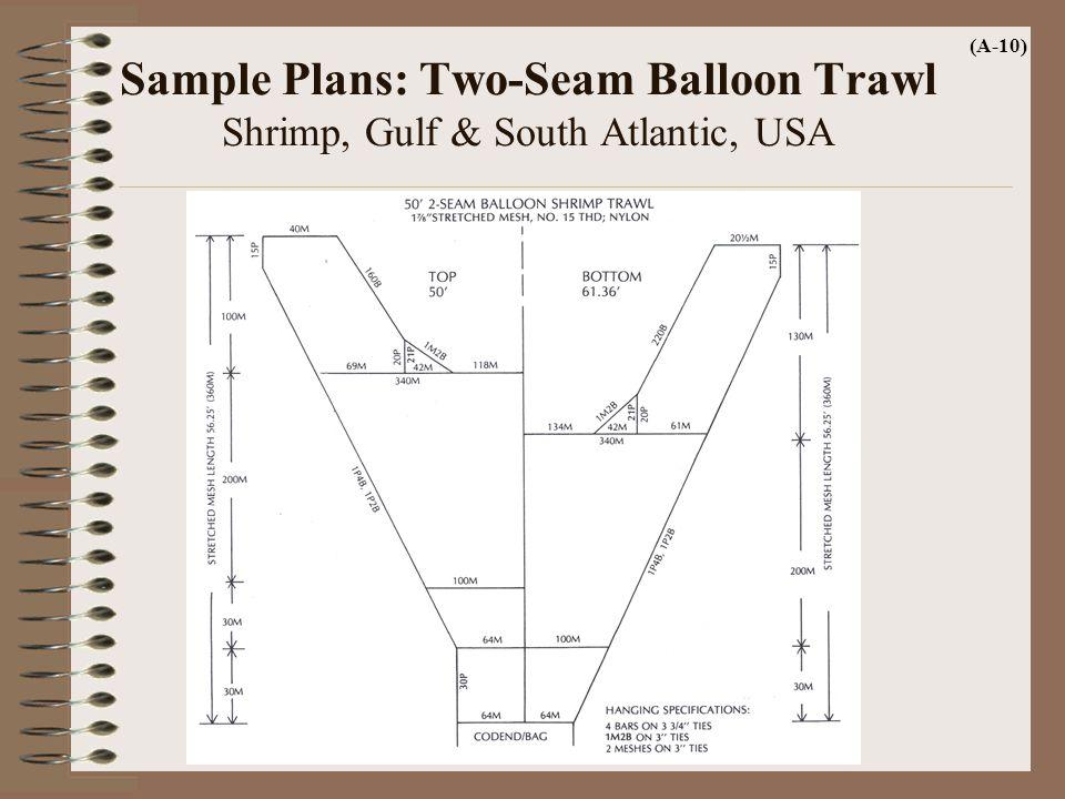 (A-10) Sample Plans: Two-Seam Balloon Trawl Shrimp, Gulf & South Atlantic, USA