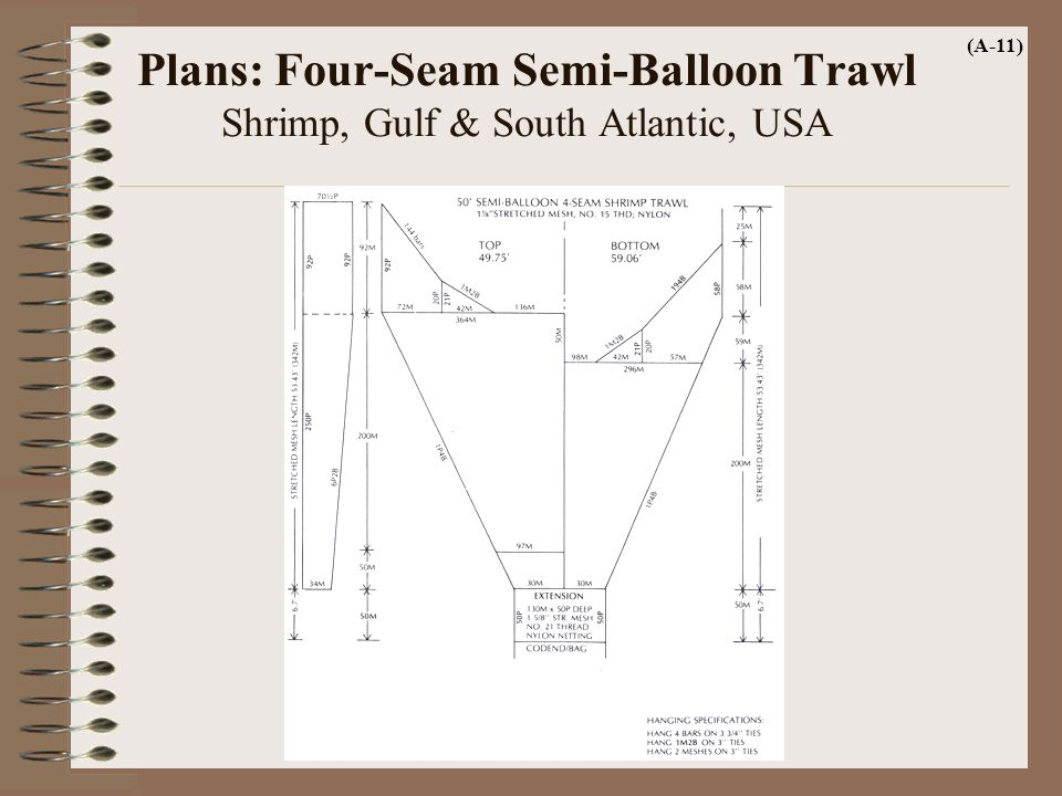 Plans: Four-Seam Semi-Balloon Trawl Shrimp, Gulf & South Atlantic, USA