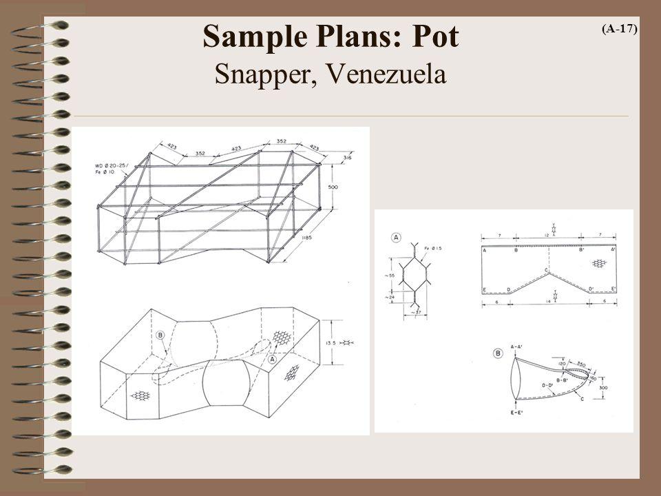 Sample Plans: Pot Snapper, Venezuela