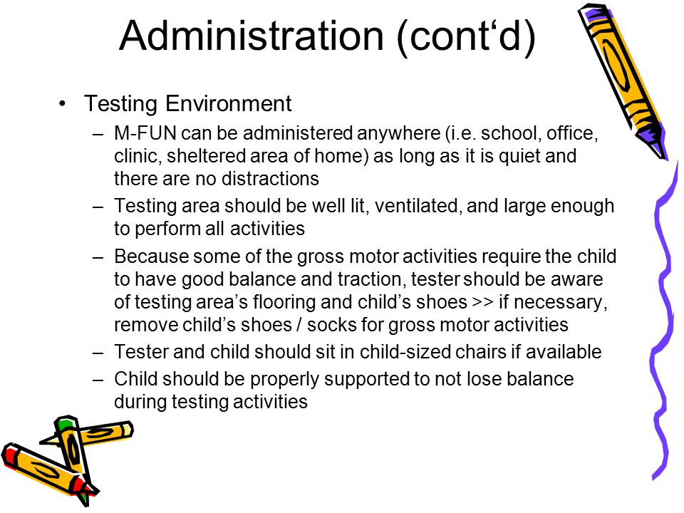Administration (cont'd)