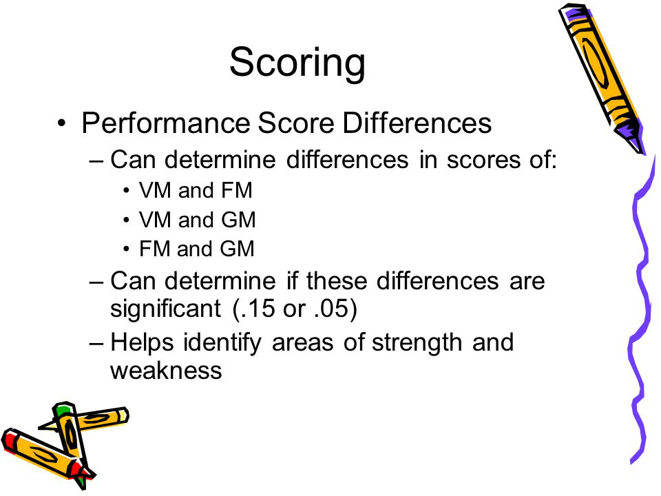 Scoring Performance Score Differences