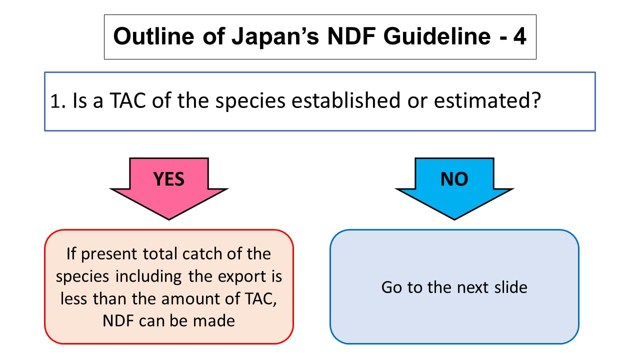 Outline of Japan's NDF Guideline - 4