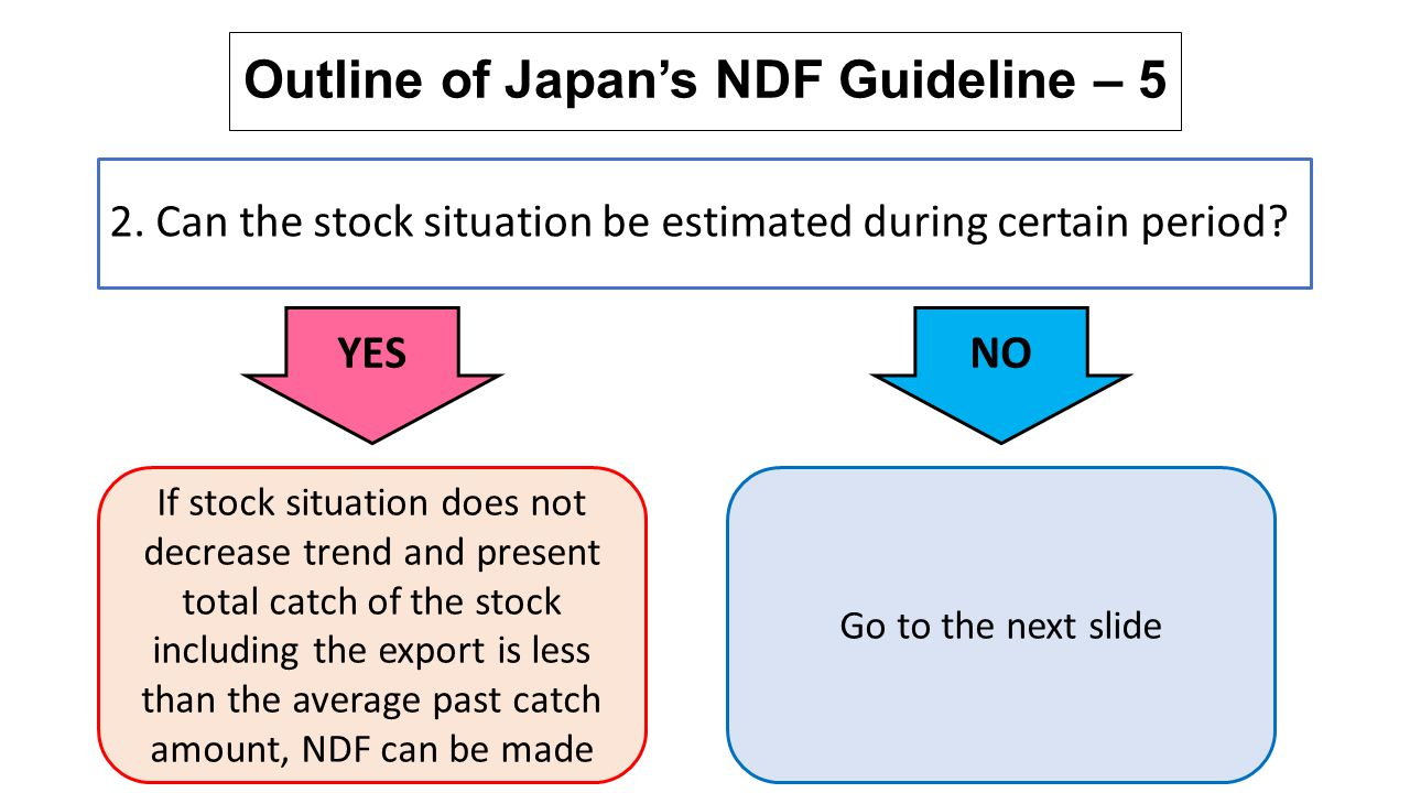 Outline of Japan's NDF Guideline – 5