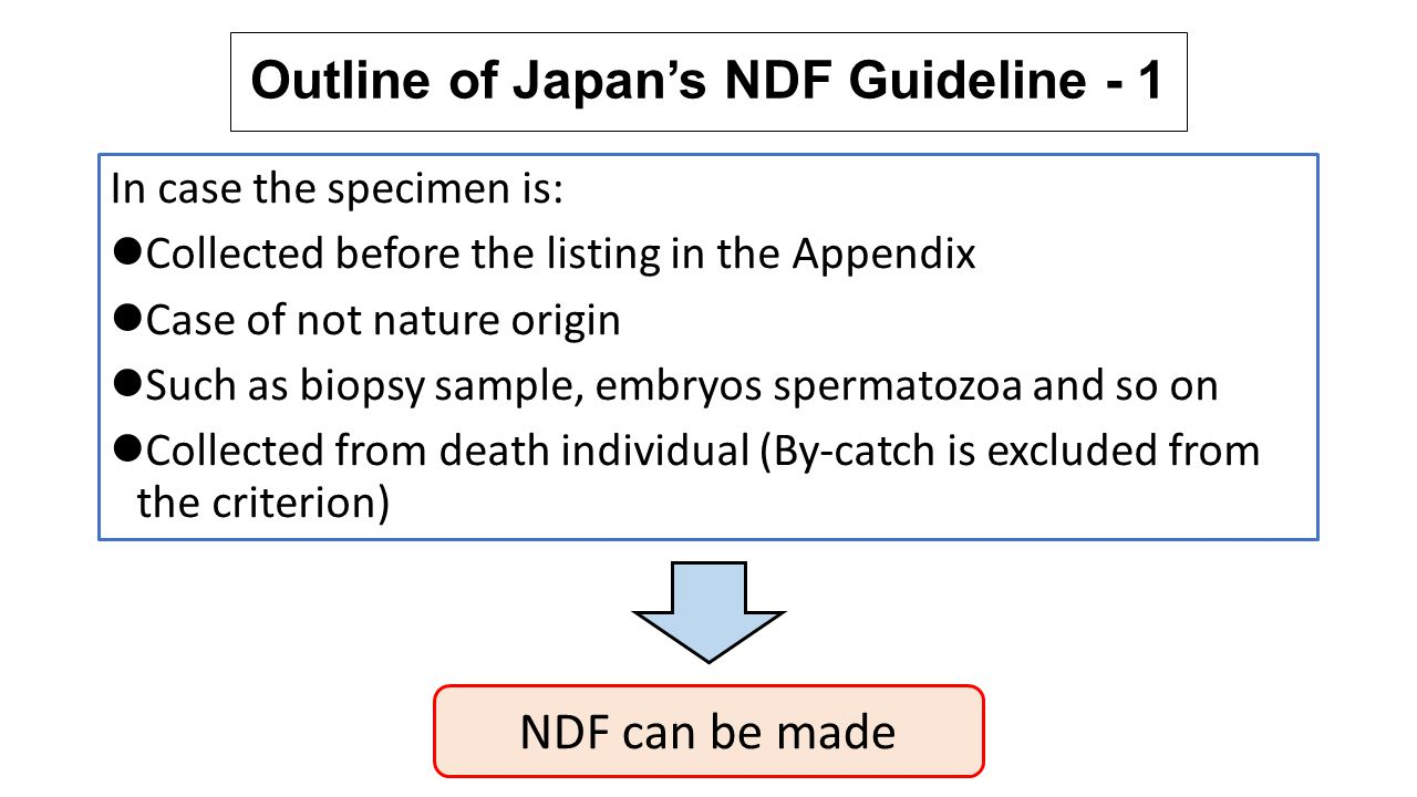 Outline of Japan's NDF Guideline - 1