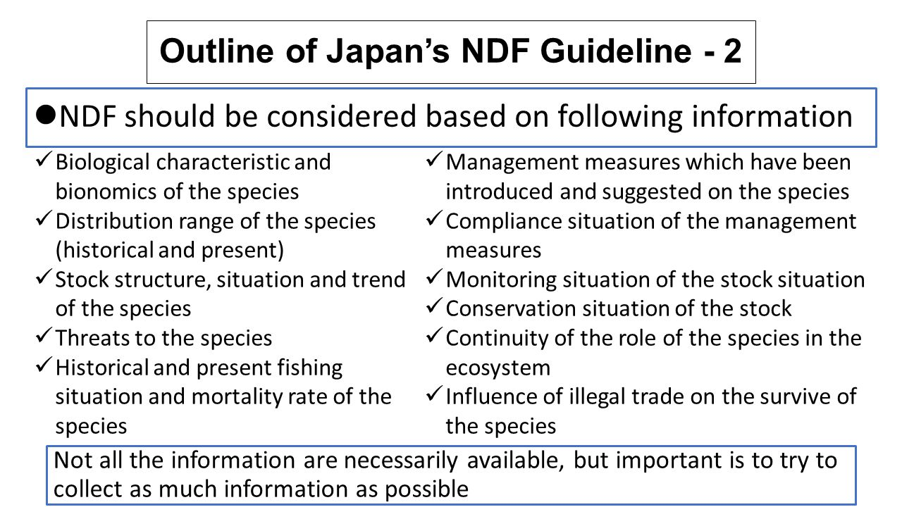 Outline of Japan's NDF Guideline - 2