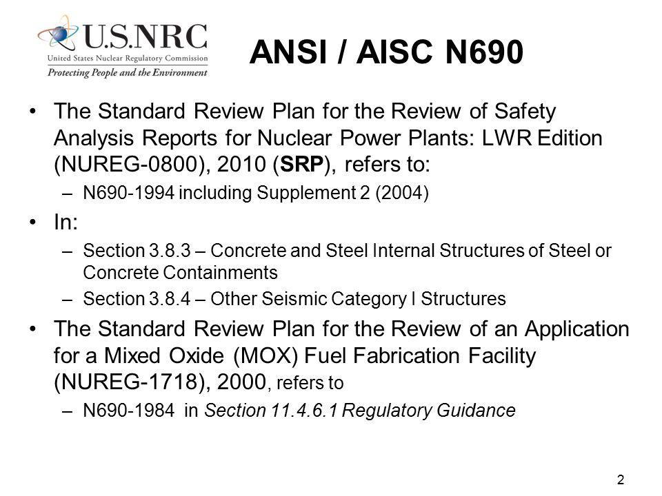 ANSI / AISC N690
