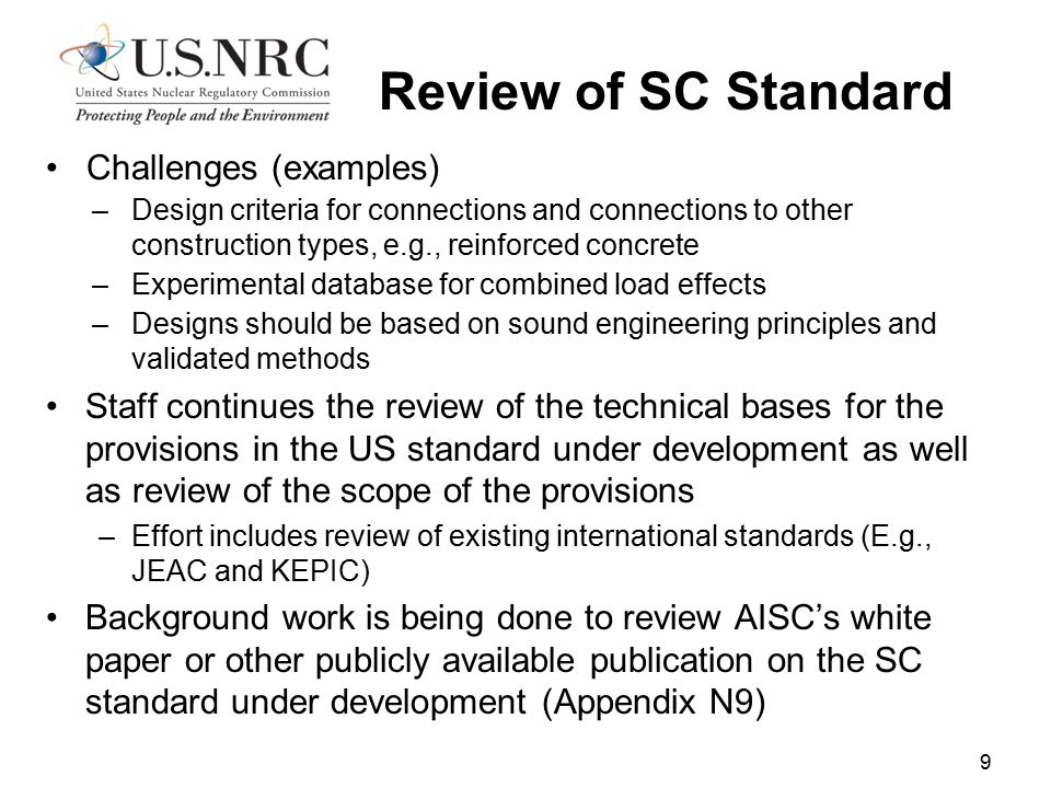 Review of SC Standard Challenges (examples)