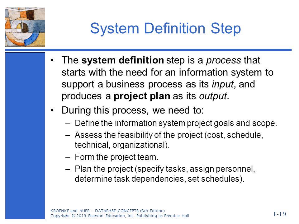 System Definition Step