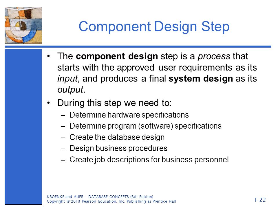 Component Design Step