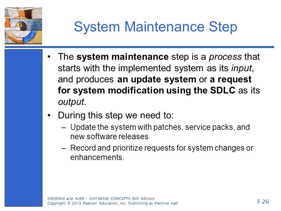 System Maintenance Step