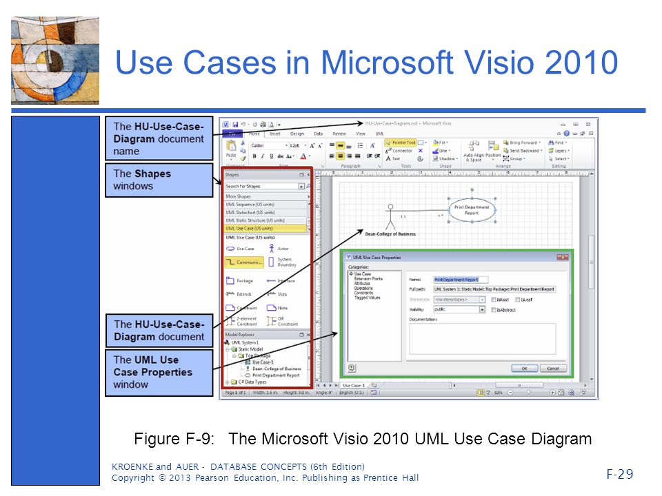 Getting started in systems analysis and design ppt video online use cases in microsoft visio 2010 ccuart Image collections