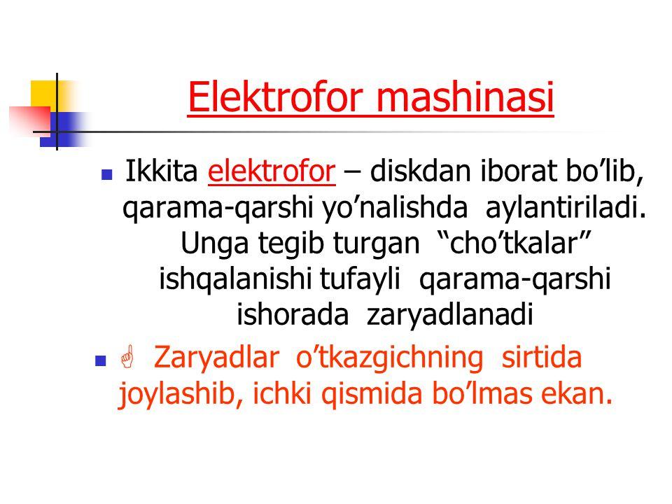 Elektrofor mashinasi