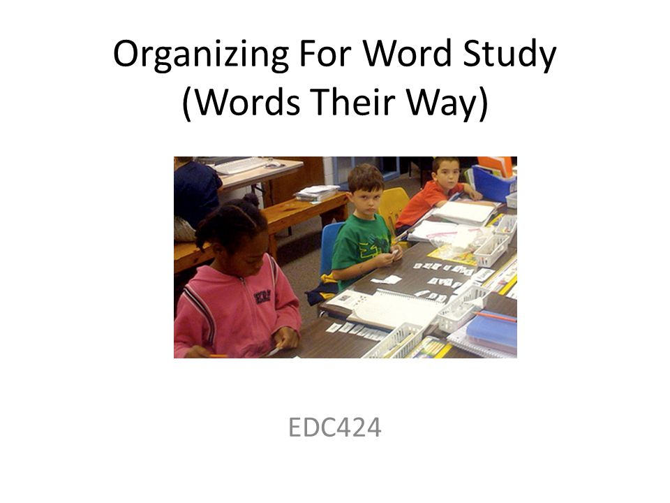 Organizing For Word Study (Words Their Way)