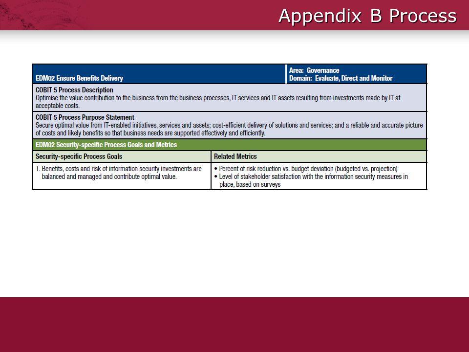 Appendix B Process