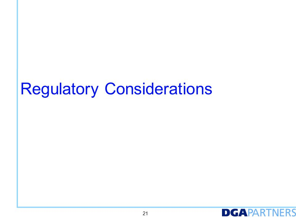 Timing of law and regulations